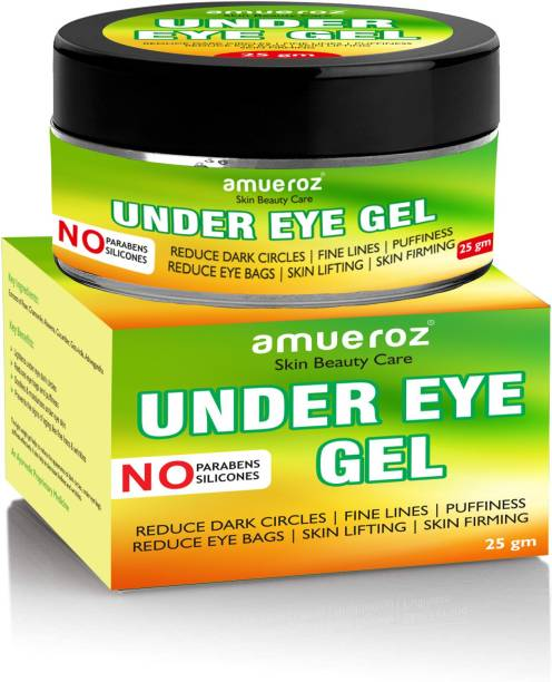 Amueroz Under Eye Gel to Reduce Dark Circles, Fine Lines, Puffiness, Skin Lifting & Firming for Women & Men   Enriched with Aloe Vera, Rose Extract & Chamomile