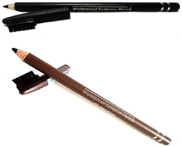 HUKBO black brown eyebrow pencil waterproof long lasting eyebrow definer pencil with brush