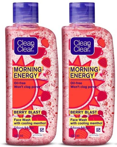Clean & Clear Morning Energy Berry , 100ml - Pack Of 2 Face Wash