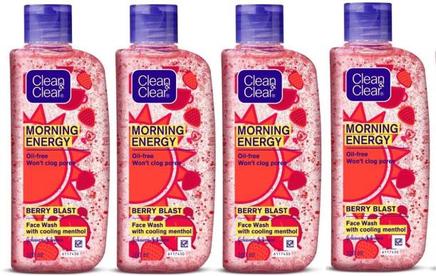 Clean & Clear Morning Energy Berry , 100ml - Pack Of 4 Face Wash