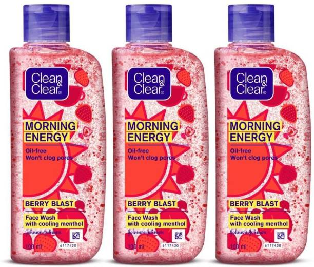 Clean & Clear Morning Energy  - Berry 100 ml x 3 Face Wash