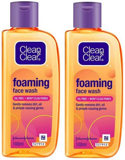 Clean & Clear Foaming  - 100ml (Pack Of 2) Face Wash