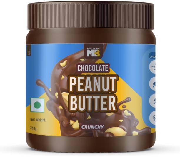 MuscleBlaze Chocolate Peanut Butter, Crunchy, 340g, No Oil Separation 340 g