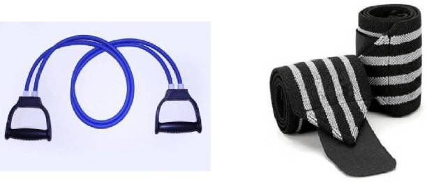 Airfit toning tube with wrist supporter for your exercise and supporting Gym & Fitness Kit