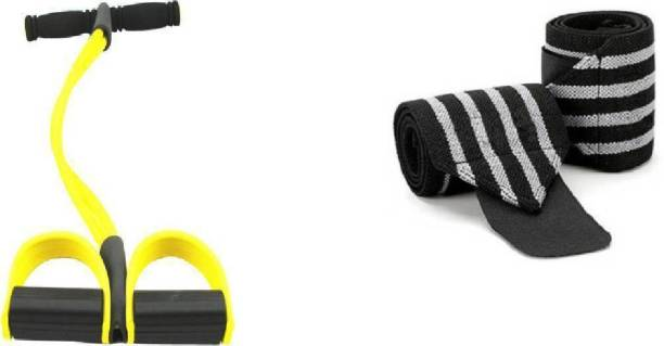 Airfit tummy trimmer with wrist grip for your workout (multicolour) Gym & Fitness Kit