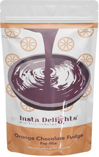 Insta Delights Orange Chocolate Fudge Pre-Mix 125 g