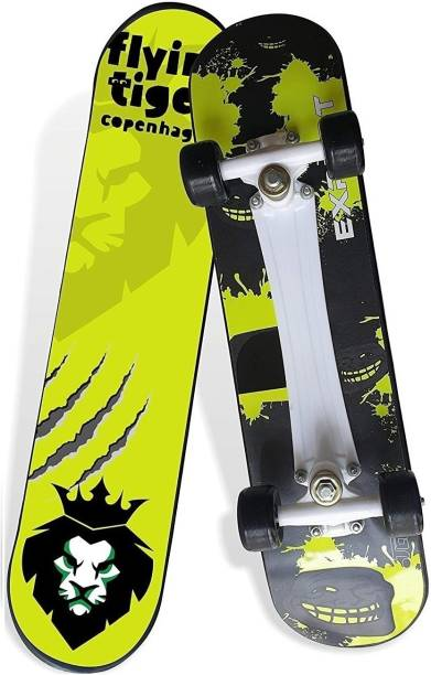 """Jaspo Experts 27""""x7"""" Anti Skid Skateboard with Grip Tape and Carry Bag (Green) 27 inch x 7 inch Skateboard"""