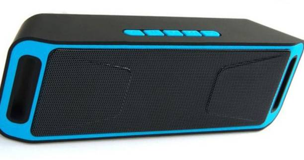 bounteous 3d Bass J-B-L Speaker with Charging Cable Like Dj Sound SC-208 Deep Bass Sound Rechargeable Wireless Splashproof Portable Mini Dynamite Thunder Sound Wireless Bluetooth Speaker For Car/Laptop/Home Audio & Gaming With Usb/Fm/Tf Card & Line In Aux Supported 10 W Bluetooth Soundbar