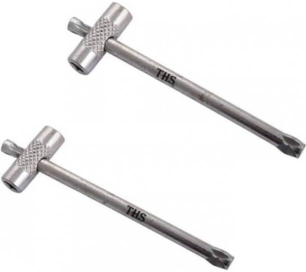 THS High Quality Oxygen Cylinder Key (Set of 2 Pcs) for Industrial And Medical Purpose High Quality Oxygen Cylinder Key (Set of 2 Pcs) for Industrial And Medical Purpose Double Sided Pipe Wrench