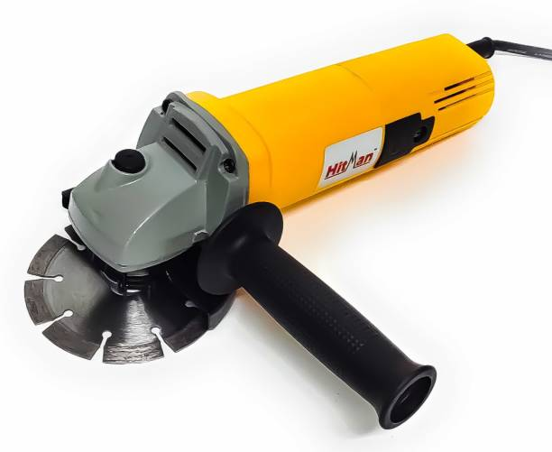 Hitman H-801 Heavy Duty Machine with 1 high quality 4-inch wheels for cutting grinding buffing application (850 Watt & 11000 RPM) Angle Grinder