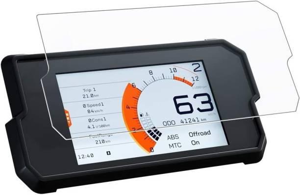 FriendZon 9H Nano Tempered Glass Screen Protector Compatible with KTM Duke 390 2017+, 390 Adventure 2020 (Transparent) Bike Crash Guard