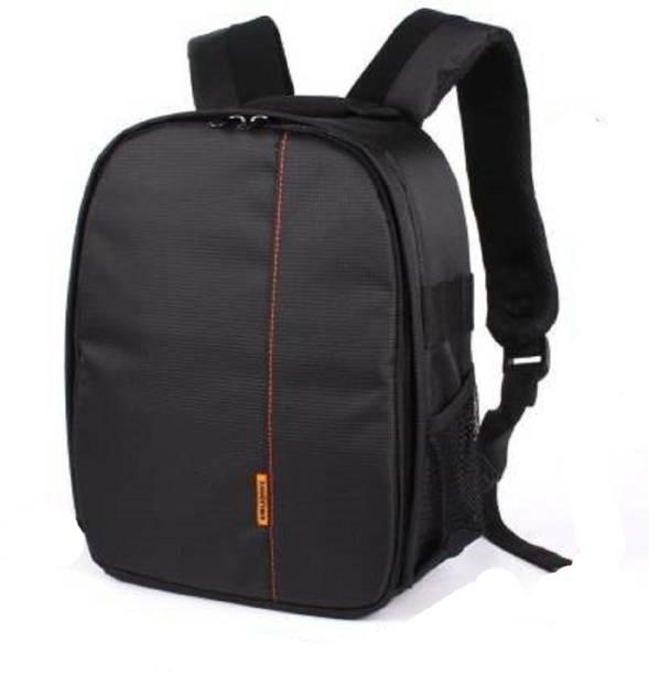 Norway Camera Backpack Waterproof, DSLR Camera, Lens,Camera Accessories Camera Bag (Orange, Black) Camera Bag  Camera Bag