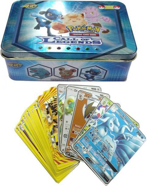 GOLDEN-BRIGHT Pokemon Call of Legends Tin with GX cards