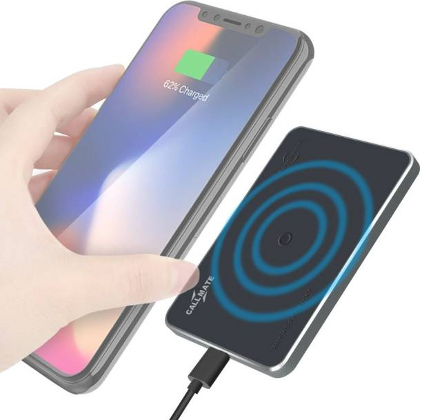 Callmate Raycharger Wireless Charging Pad, Fast Qi Leather Charging Pad, 10W Fast Charger Charging Pad