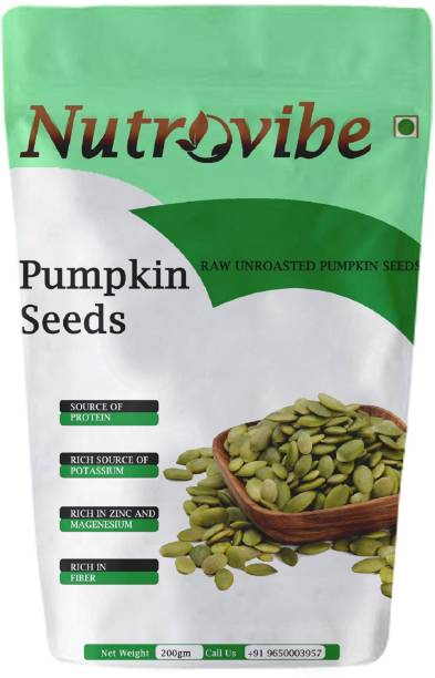 Nutrovibe Raw Pumpkin Seeds Protein and Fibre Rich Superfood