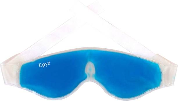 Epyz Relaxing Eye Gel Mask with Strap-on Cooling Relaxation for Tired Eyes , Model No- EGM-1 [ Pack Of 1 ,Blue ]