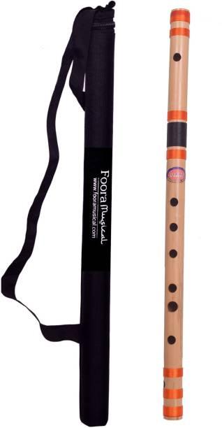 Foora Flutes C Natural Medium Right Hand Bansuri Size 19 inches.. Bamboo Flute