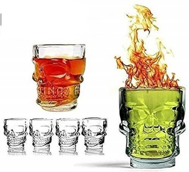 Bentex (Pack of 6) Shot Glass - Skeleton/Skull Face Shape Glass Set