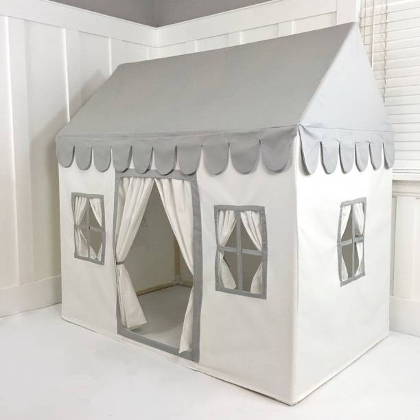 Zorixa Royal Play Tent House|Dollhouse tent|Playhouse tent|Cotton Fabric|With Window|For 3 to 10 Year Kids