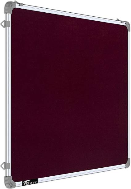 Foxit 2 X 2 feet Premium Material Notice Pin-up Board/Pin-up Board/Soft Board/Bulletin Board/Pin-up Display Board for Office, Home & School uses, (Maroon, Pack of 1) PIN UP BOARD Bulletin Board
