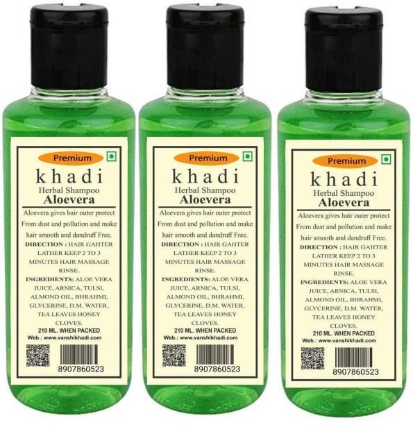 Khadi Herbal Aloevera Shampoo -Pack of 3