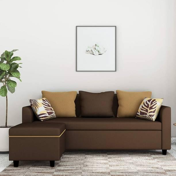 Brickwud Luno Interchangeable L Shape Fabric 4 Seater  Sofa