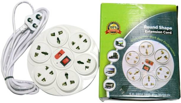 PI EXTENSION CORD 8 IN 1 ROUND SHAPE 8  Socket Extension Boards