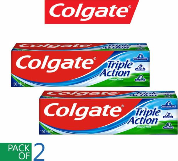 Colgate (PACK OF 2) Triple Action Original Mint Imported Toothpaste
