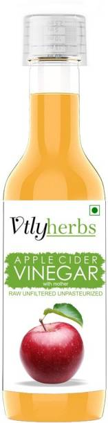Vtlyherbs Red Apple Cider Vinegar for Weight Loss With Strand of Mother Unfiltered And Undiluted Vinegar (500 ml) Vinegar