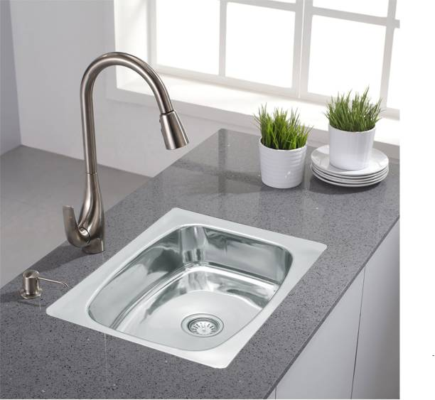 """Prestige Prestige stainless steel 'oval bowl' kitchen sink made up of heavy gauge fully mirror polished steel,the box contains a coupling and a sink its dimension is 18 inches width, 9 inches height, 24 inches length (24""""x18""""x9""""Inch)' Oval Bowl' stainless steel Sink Vessel Sink"""