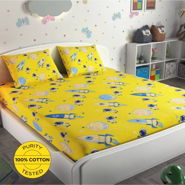 Miss & Chief 136 TC Cotton Double Printed Bedsheet