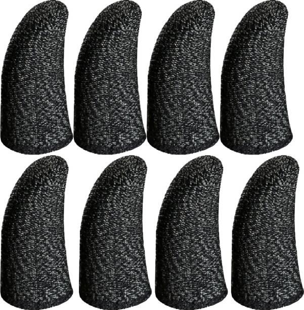 Havick Thumb & Finger Sleeve for Pubg Mobiles Game, Anti-Sweat, 8 Sleeves Black Finger Sleeve