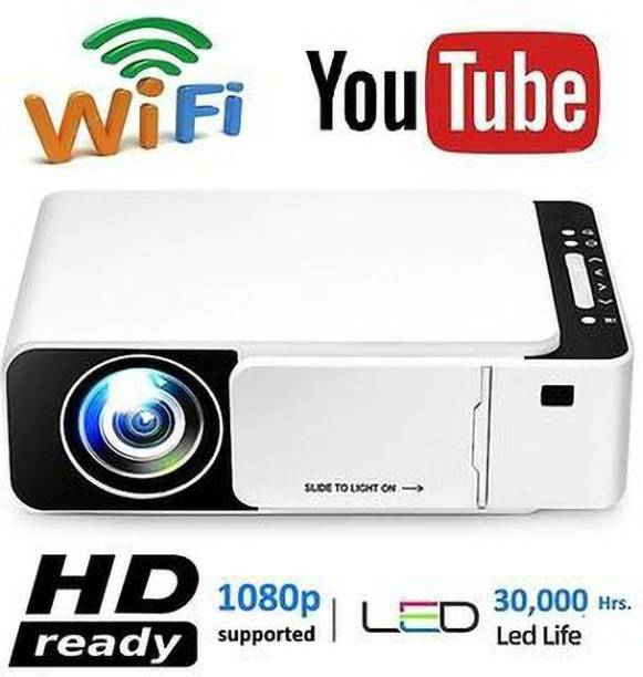 IBS T6 WIFI LED Projector 1080p Full HD with Built-in YouTube - Supports Wifi, HDMI,VGA,AV IN,USB, Miracast - Mini Portable 4700 lm LCD Corded Portable Projector