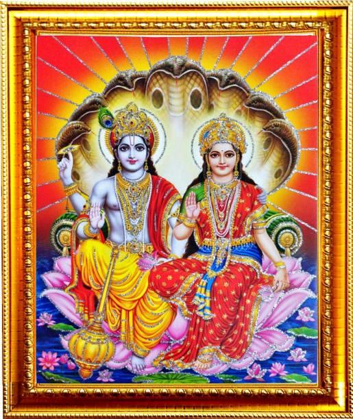 SUNINOW vishnu laxmi photo frame |vishnu photo Religious Frame