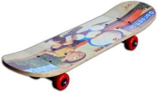 ZARTHA DOREMON & NOBITA SKATEBOARD 6 inch x 24 inch Skateboard