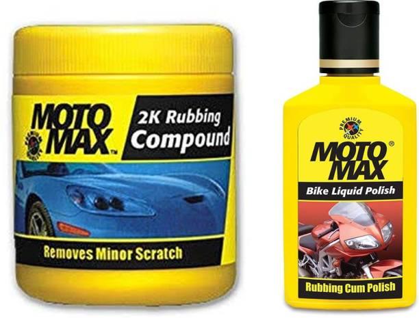 Motomax 1 2k Rubbing Compound 100 gm., 1 Liquid Bike Polish 50 ml. Combo