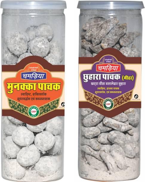 CHAMRIA Munakka Pachak & Chhuhara Pachak Khata Digestive Combo 400gm Pack of 2
