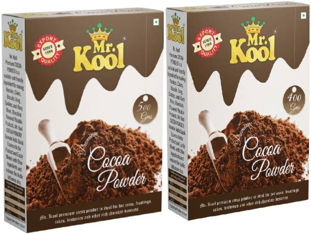 Mr.Kool 100% Natural Cocoa Powder for Chocolate Cake Family Pack (500g + 400g Each Box) Cocoa Powder