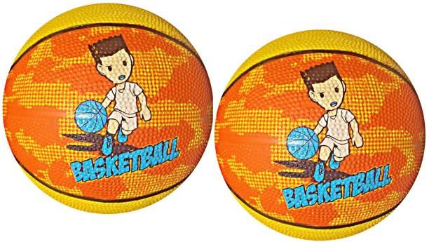 LIVE Slamz Kids 5-18 Years (Pack of 2 Ball) Basketball - Size: 3