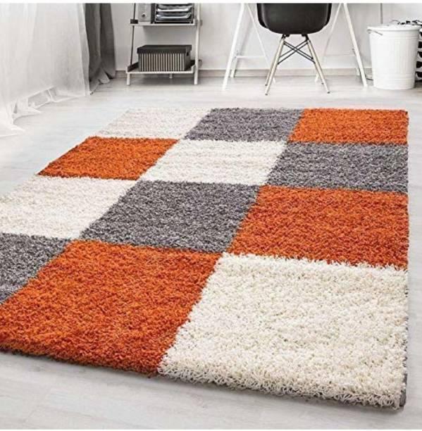 Asha Home Decor Multicolor Polyester Carpet