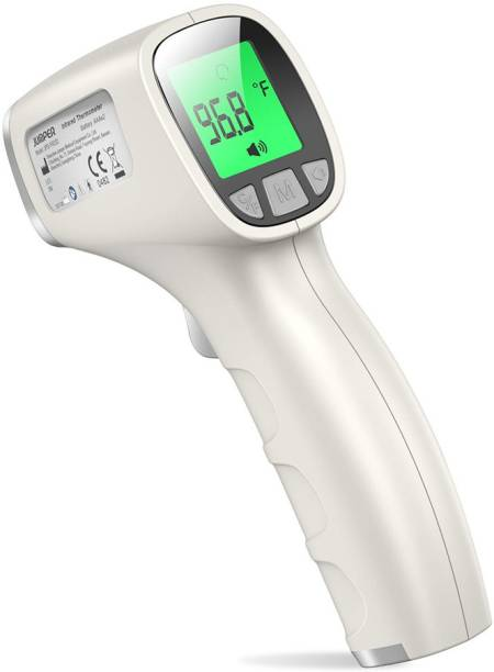 Carent jpd-fr202 Digital Non Contact Infrared Forehead Laser Gun Scanner Body Fever Testing Machine for Kids Adults & Babies Thermometer Thermometer