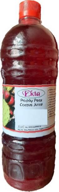 Ekta Juice PRICKLY PEAR JUICE, CACTUS JUICE, HATHLA THOR FINDLA JUICE, NAGFANI RAS, NIVDUNG RAS, WITH ADDED GULKAND 1 LITER