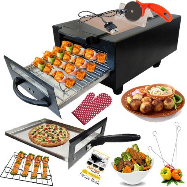 """Geico master """" 16 Inches""""Model No Ge-501 Electric Tandoor Pizza Maker Fish Chicken Tikka Naan Roti Cake Baker French Fries Meat Barbeque Chaap Oil-Free Fryer (Black) Electric Tandoor"""