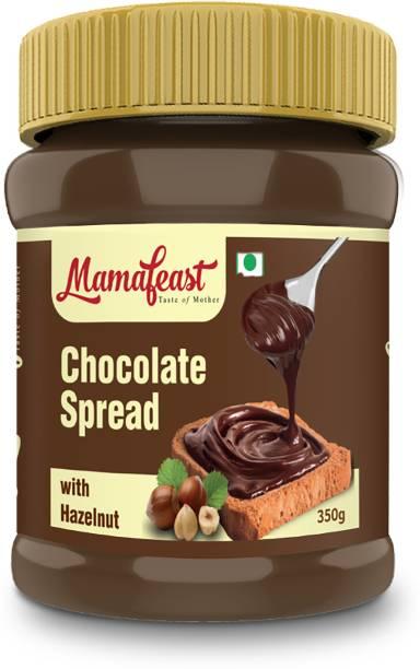 Mamafeast Chocolate Spread 350g, Vegetarian, Vegan, No Preservatives, Non GMO, 350g Pack 350 g