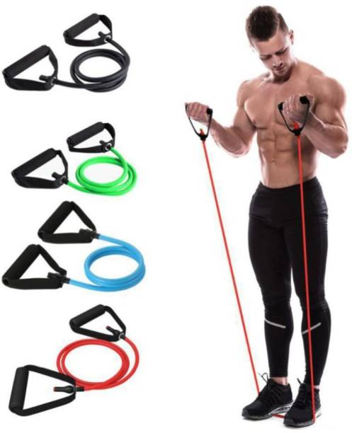 AJRO DEAL New Adjustable Single Resistance Tube (Multicolor) Resistance Tube