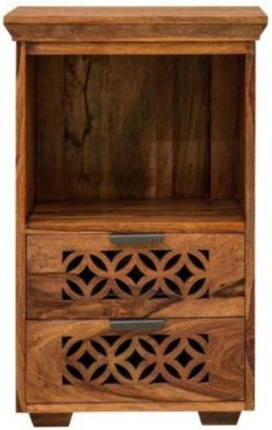 Credenza Sheesham Wood Console Tables for Living Room Furniture for Home Decor Table Vintage Traditional Collection (Standard, Honey Finish) Solid Wood End Table