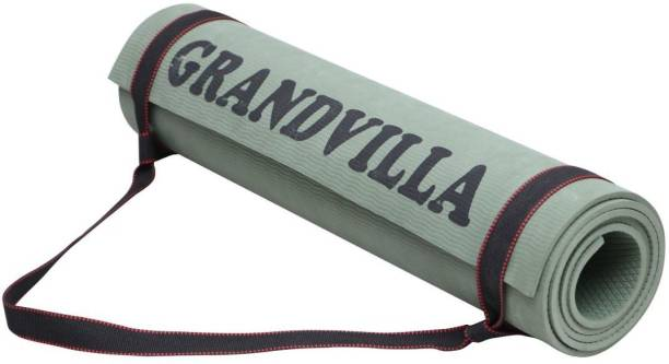 Grandvilla Anti Skid Yoga Mat for Home Gym and Outdoor Workout with Bag and Strap 4 mm mm Exercise & Gym Mat