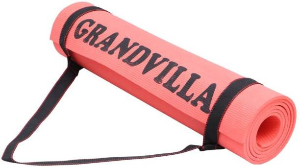 Grandvilla Anti Skid Yoga Mat for Home Gym and Outdoor Workout with Free Bag and Strap 4 mm mm Exercise & Gym Mat