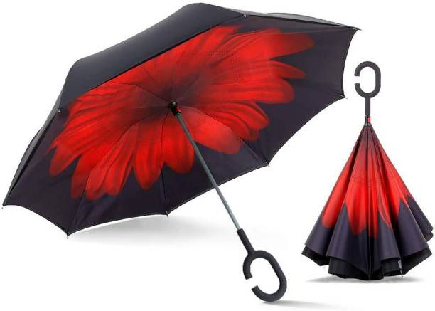 KriShyam Double Layer Reversible Umbrella with Hands Free C Shaped Handle for Man and Women Umbrella