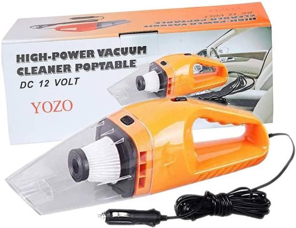 keekos Handheld Car Vacuum Cleaner 120W 12V Portable Wet/Dry Auto Car Vacuum Car Vacuum Cleaner with Reusable Dust Bag